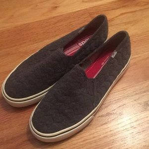Grey Quilted Keds